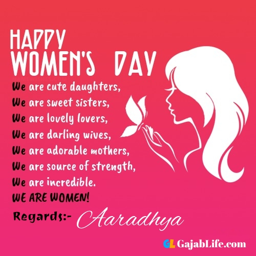 Free happy womens day aaradhya greetings images