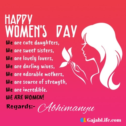 Free happy womens day abhimanyu greetings images