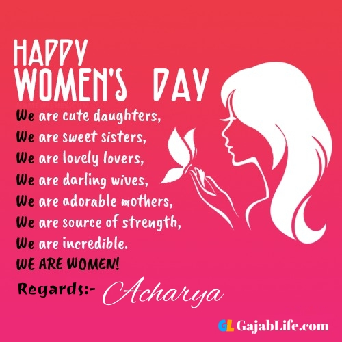 Free happy womens day acharya greetings images