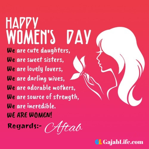 Free happy womens day aftab greetings images
