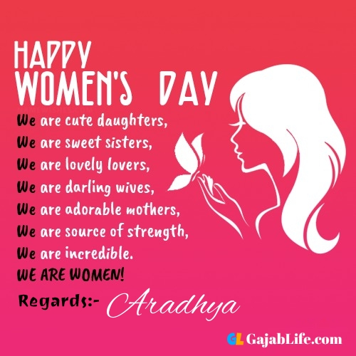 Free happy womens day aradhya greetings images