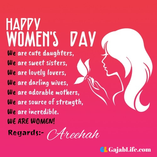 Free happy womens day areehah greetings images