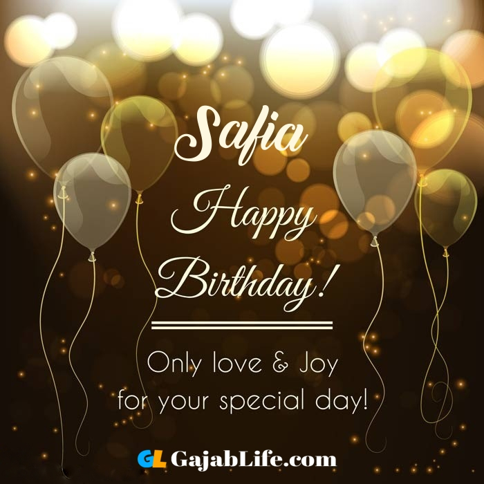Pleasing Safia Happy Birthday Wishing Greeting Card With Name May 2020 Funny Birthday Cards Online Fluifree Goldxyz