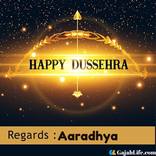 Aaradhya happy dussehra wishes images, photos