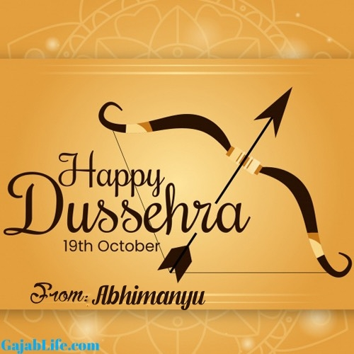 Abhimanyu happy dussehra whatsapp wishes
