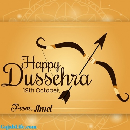 Amol happy dussehra whatsapp wishes