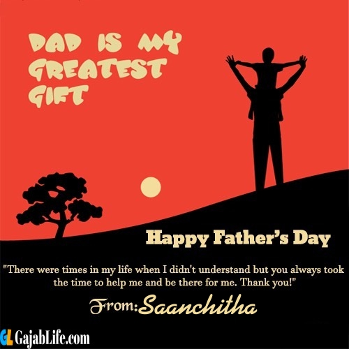 Saanchitha happy fathers day quotes