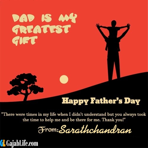 Sarathchandran happy fathers day quotes