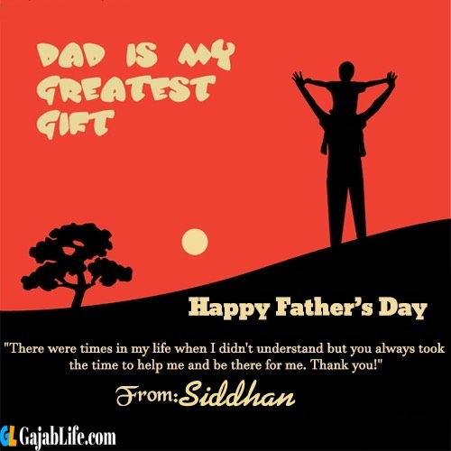 Siddhan happy fathers day quotes