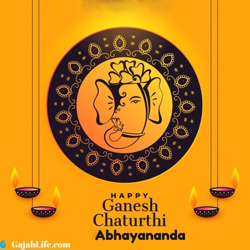 Abhayananda happy ganesh chaturthi 2020 images, pictures, cards and quotes