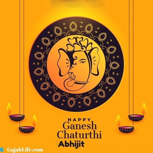 Abhijit happy ganesh chaturthi 2020 images, pictures, cards and quotes