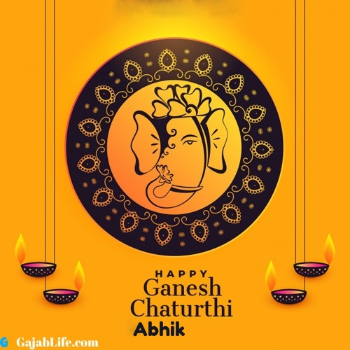 Abhik happy ganesh chaturthi 2020 images, pictures, cards and quotes
