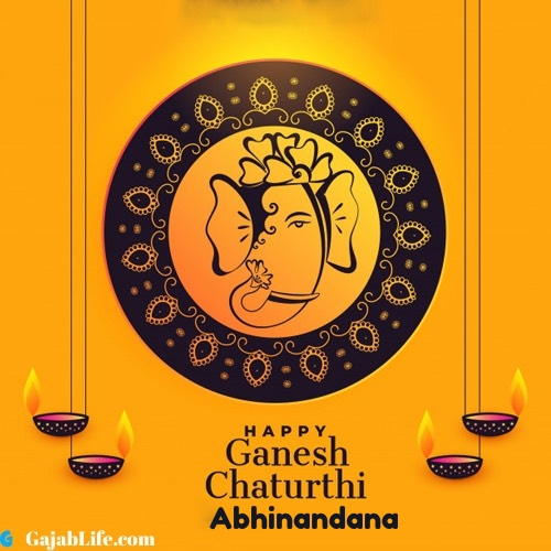 Abhinandana happy ganesh chaturthi 2020 images, pictures, cards and quotes