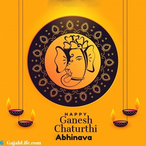 Abhinava happy ganesh chaturthi 2020 images, pictures, cards and quotes
