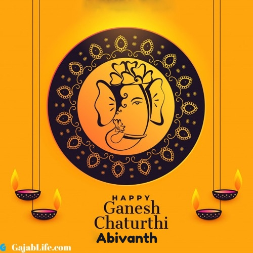 Abivanth happy ganesh chaturthi 2020 images, pictures, cards and quotes