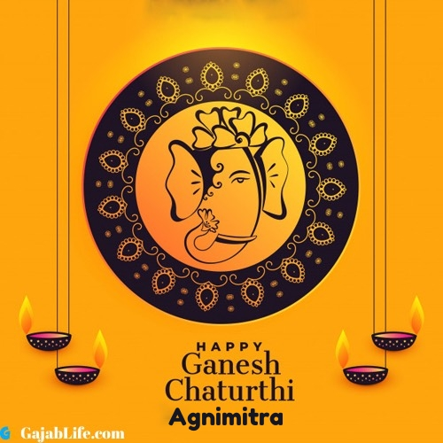 Agnimitra happy ganesh chaturthi 2020 images, pictures, cards and quotes