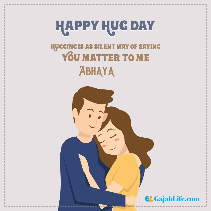 Happy hug day status abhaya latest hugs day images