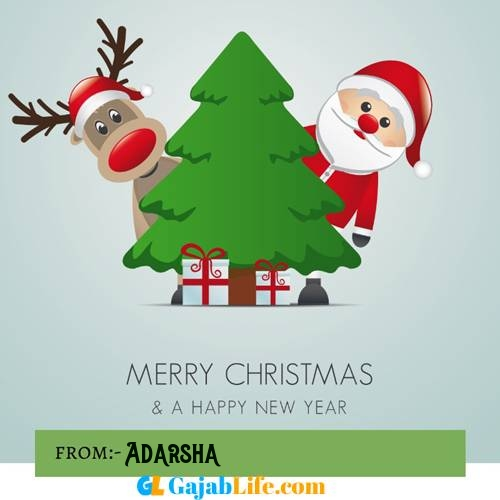 Adarsha happy merry christmas and happy new year wishes quotes images free
