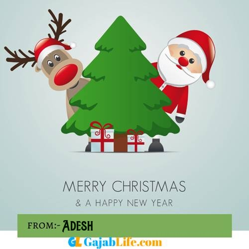 Adesh happy merry christmas and happy new year wishes quotes images free