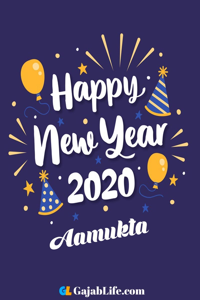 Aamukta happy new year 2020 wishes card