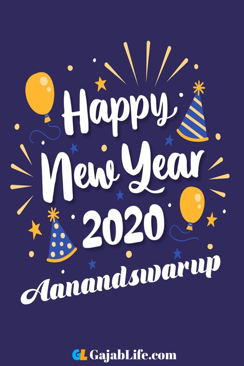 Aanandswarup happy new year 2020 wishes card