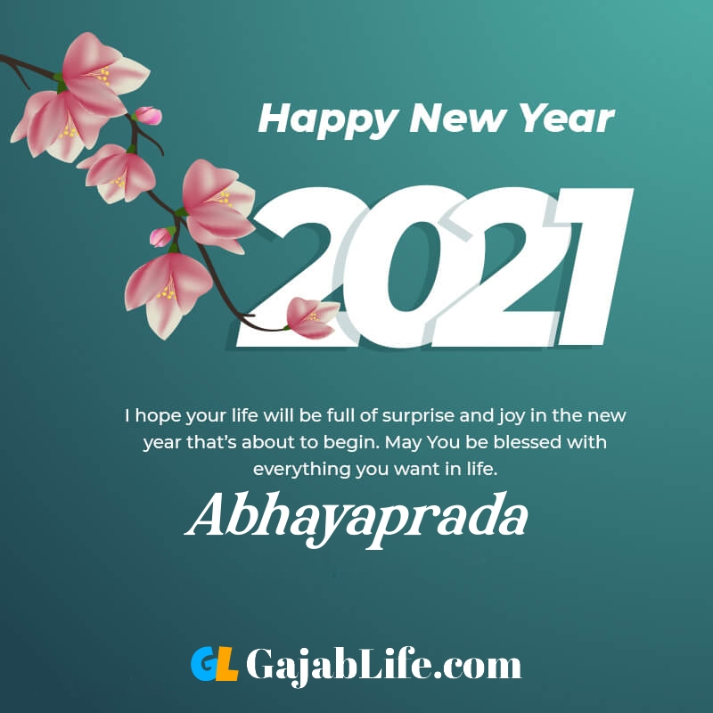 Happy new year abhayaprada 2021 greeting card photos quotes messages images