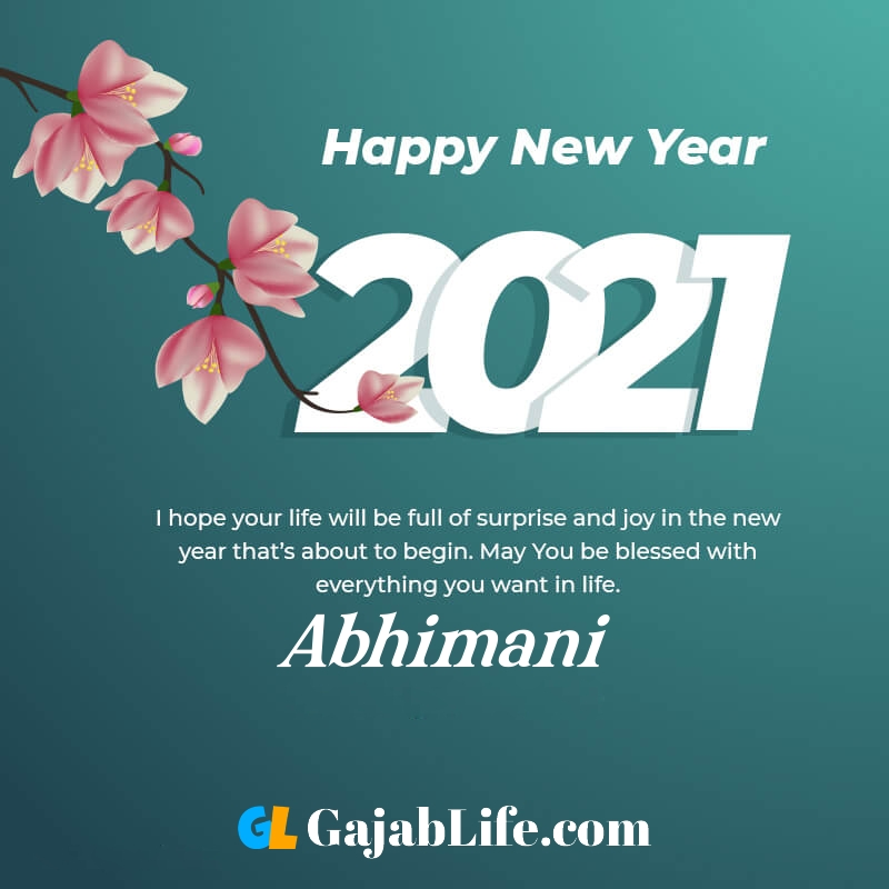 Happy new year abhimani 2021 greeting card photos quotes messages images