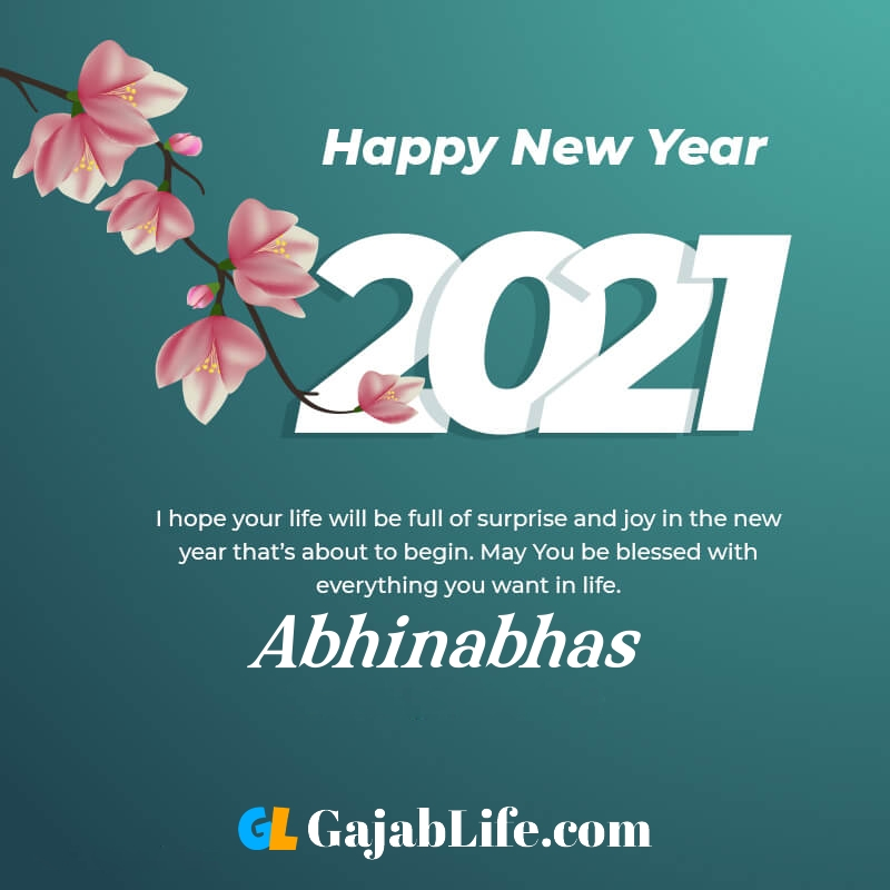 Happy new year abhinabhas 2021 greeting card photos quotes messages images