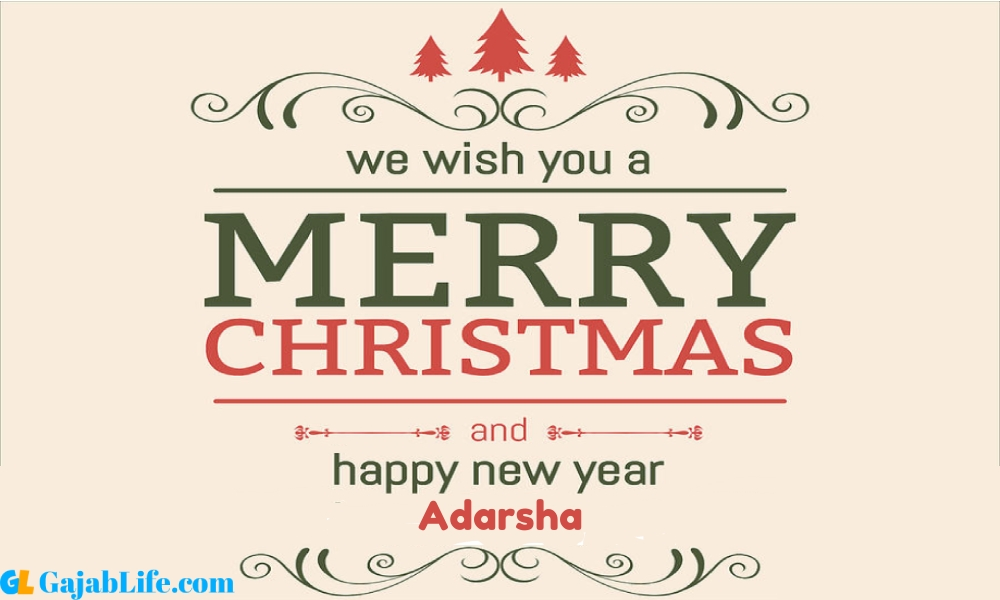 Happy new year adarsha wishes images quotes with name