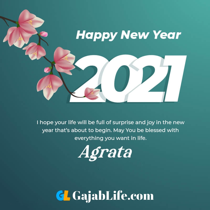 Happy new year agrata 2021 greeting card photos quotes messages images