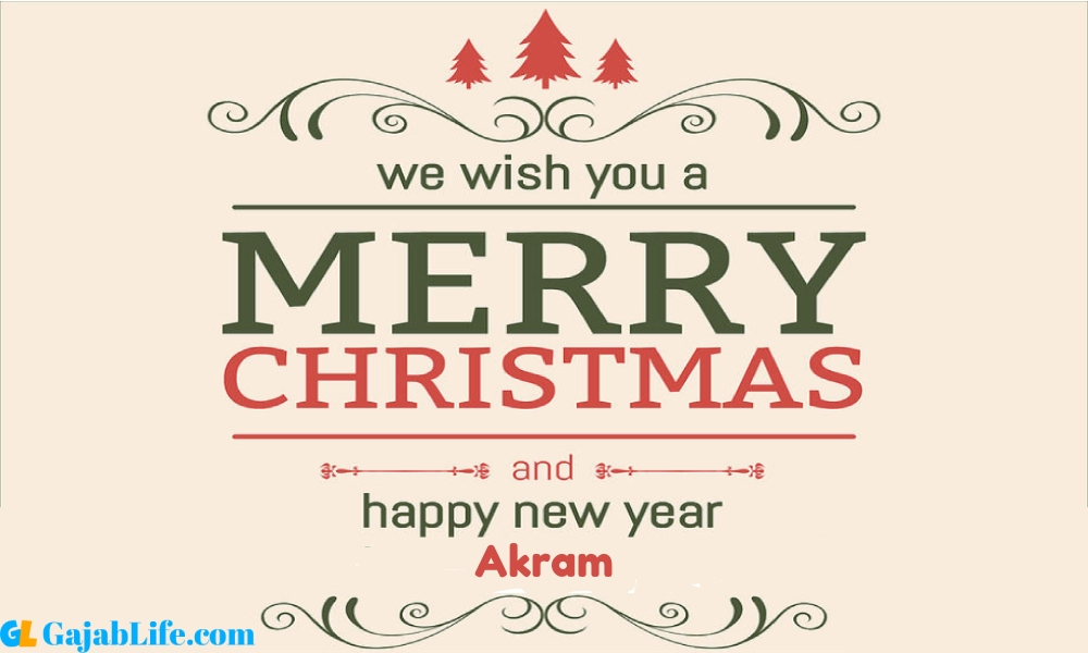 Happy new year akram wishes images quotes with name