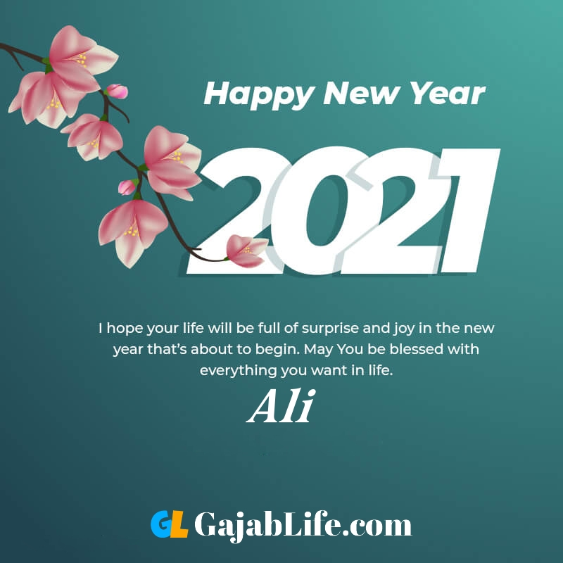 Happy new year ali 2021 greeting card photos quotes messages images