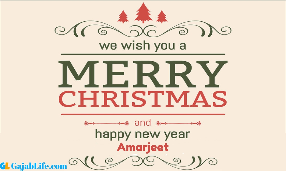 Happy new year amarjeet wishes images quotes with name