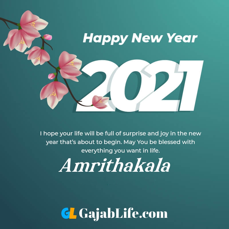 Happy new year amrithakala 2021 greeting card photos quotes messages images
