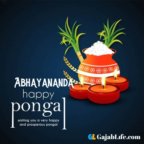 Abhayananda happy pongal wishes images name pictures greeting card in telugu tamil
