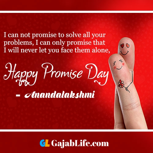 Anandalakshmi happy promise day status wish images, promise day quotes