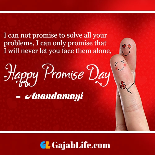Anandamayi happy promise day status wish images, promise day quotes