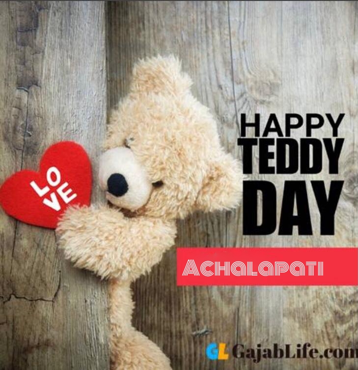 Happy teddy achalapati day status teddy bear pics images