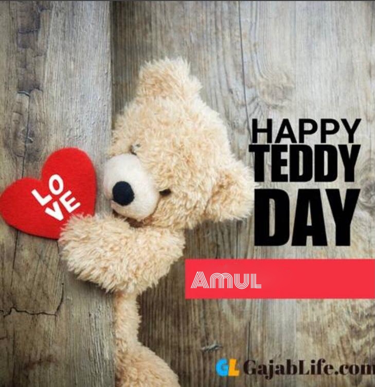 Happy teddy amul day status teddy bear pics images