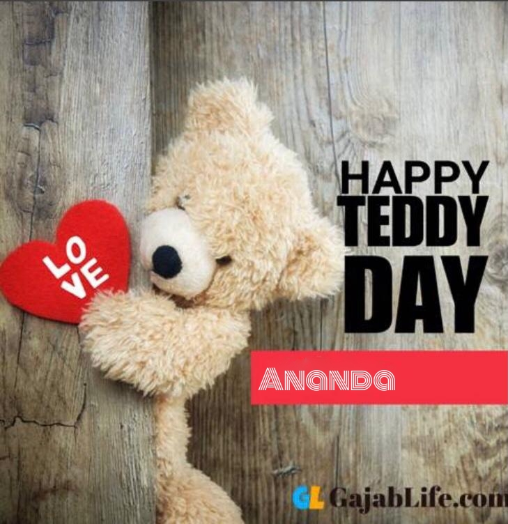 Happy teddy ananda day status teddy bear pics images