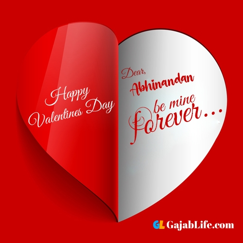 Happy valentines day images, abhinandan stock photos with name