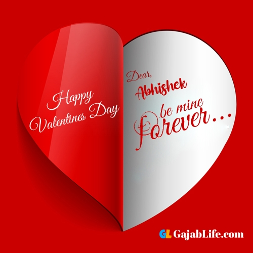 Happy valentines day images, abhishek stock photos with name