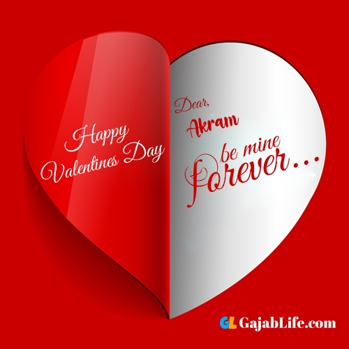 Happy valentines day images, akram stock photos with name