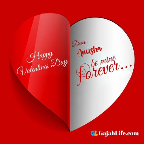 Happy valentines day images, anusha stock photos with name