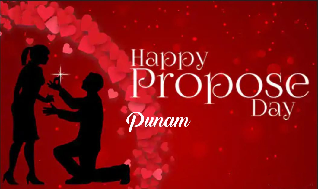 Punam Happy Propose Day Images With Name January 2021