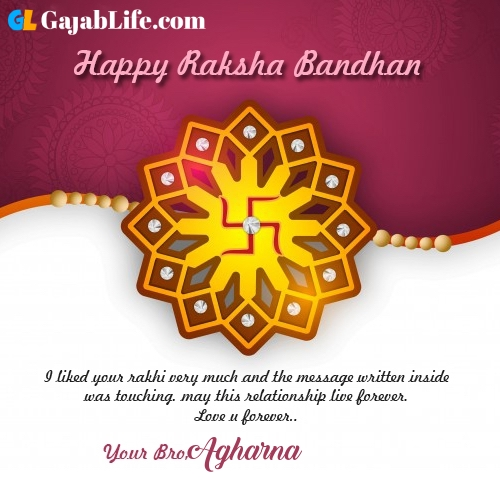 Agharna rakhi wishes happy raksha bandhan quotes messages to sister brother