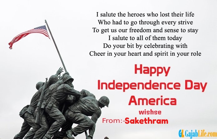 Sakethram american independence day  quotes