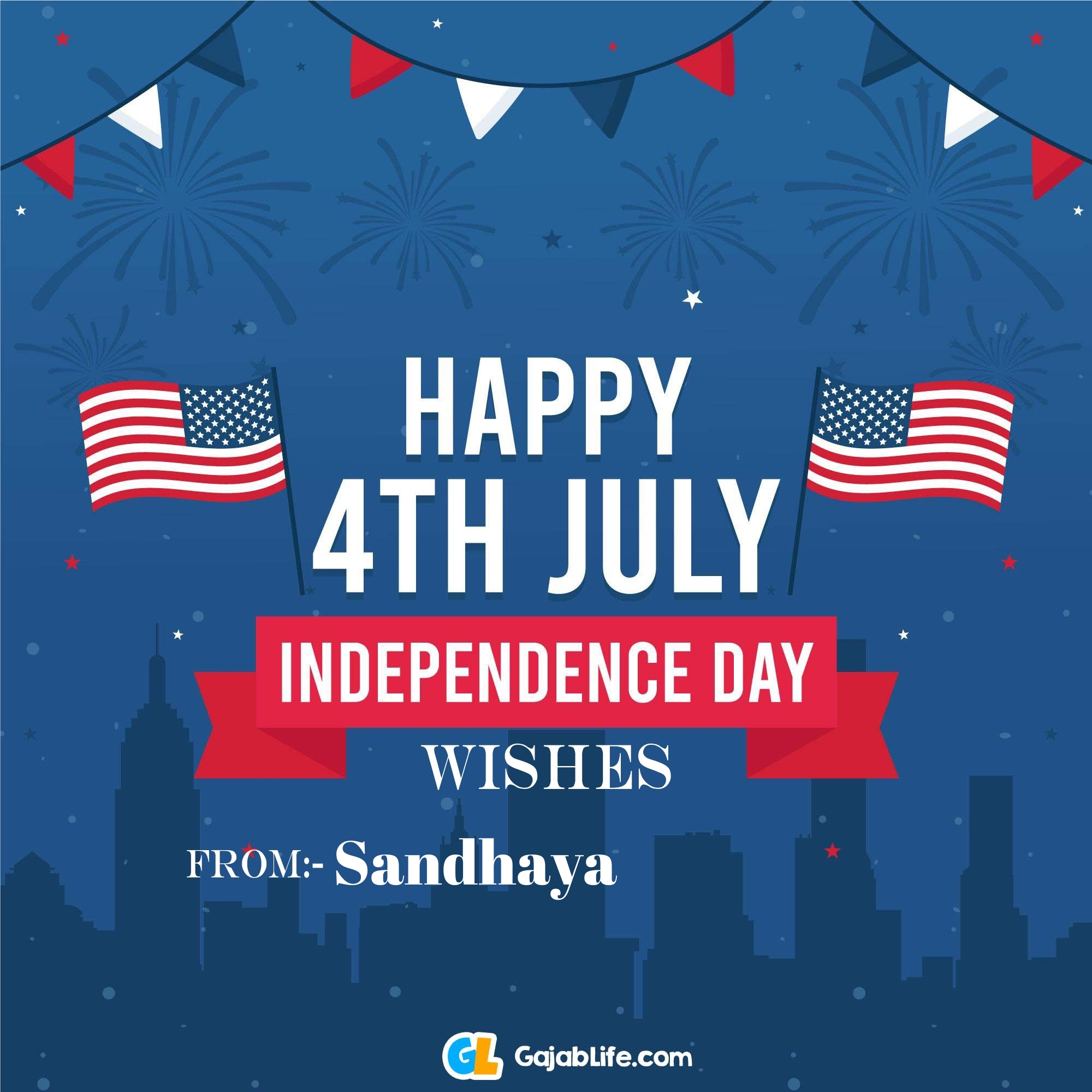 Sandhaya happy independence day united states of america images
