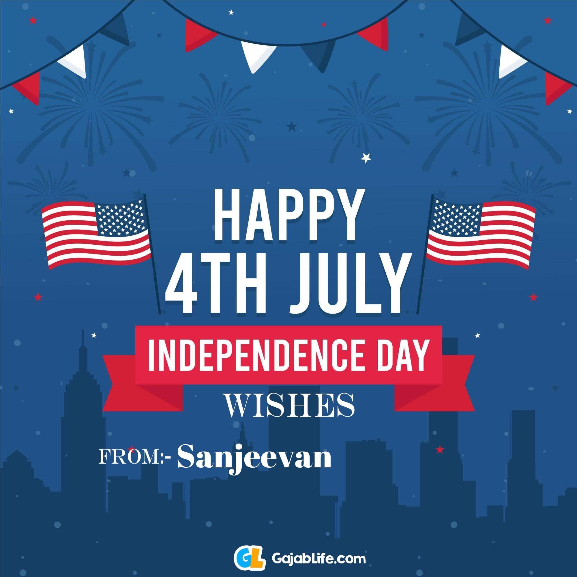 Sanjeevan happy independence day united states of america images