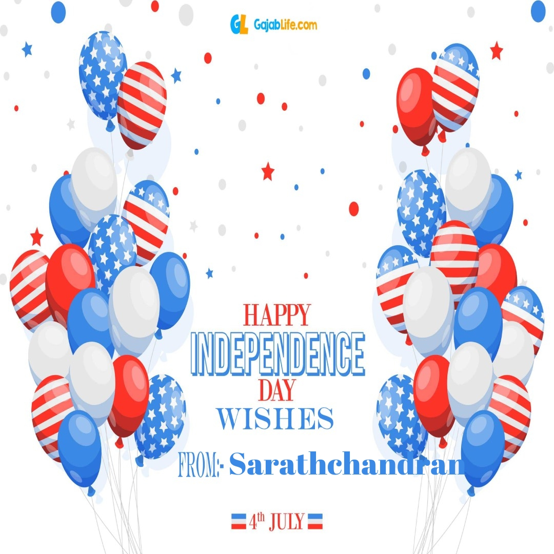 Sarathchandran 4th july america's independence day